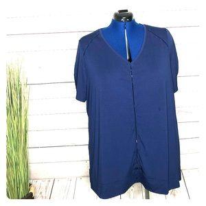 🌈Livi Active short sleeve top blue women's 22/24